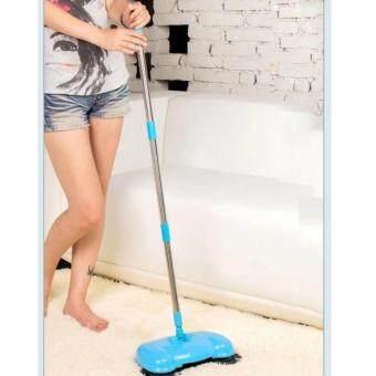 ไม้กวาดอัจฉริยะ 360degree Rotating Hand-push Type Dust Mop FloorSweeper(Blue) - 2
