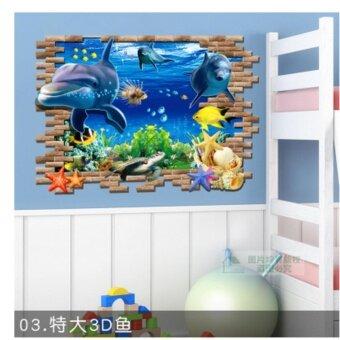 3D Three Dimensional Wall Stickers Wallpaper