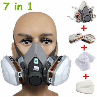 3M หน้ากากกันสารเคมี จัดชุด7ชิ้น ป้องกันสารเคมี/ฝุ่น รุ่น 6200 (ตลับกรอง6001)