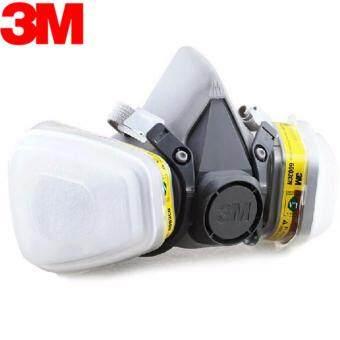 3M6200+6003 หน้ากากกันสารเคมี จัดชุด7ชิ้น ป้องกันสารเคมี/ฝุ่น รุ่น 6200 (ตลับกรอง6003)