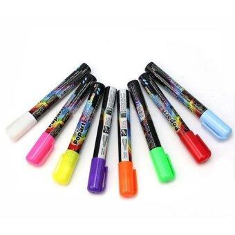 3mm Fine Bullet Tip Liquid Chalk Marker Pens 8 Neon Colors (Yellow)- Intl