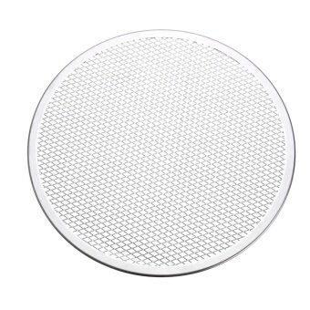 3pcs Seamless Rim Aluminium Mesh Pizza Screen Baking Tray Net Bakeware Cooking Tool 12'' - intl