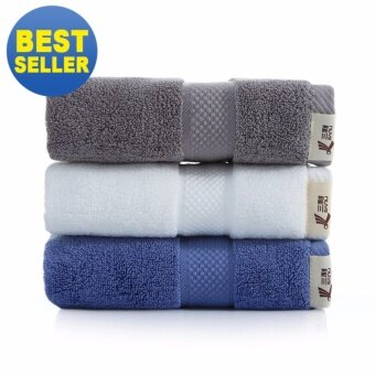 3Pcs/set 100% Soft Cotton Towel Face Cloth Bath Washcloth Set -34x78cm - intl
