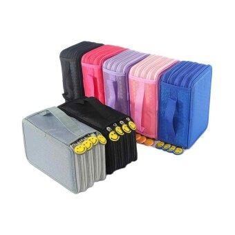 4 Layers High Capacity Pencil Case Pen Box Holder Stationary MakeupStorage Bag - intl