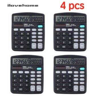 ประกาศขาย (4 PCS) เครื่องคิดเลข 12 หลักสีดำ Deli 837ES
