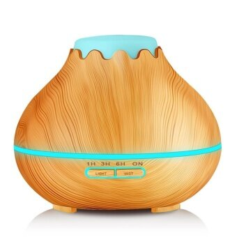 400ml Aroma Diffuser Gogerstar Wood Grain Ultrasonic MistHumidifier Essential Oil Diffuser for Office Home Bedroom LivingRoom Study Yoga Spa (Light Wood) - intl