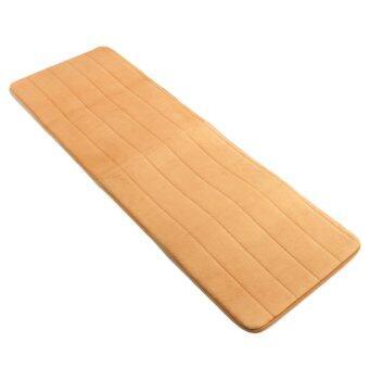 40x120cm Memory Foam Washable Bedroom Floor Pad Non-slip Bath Rug Mat Door Carpet Khaki