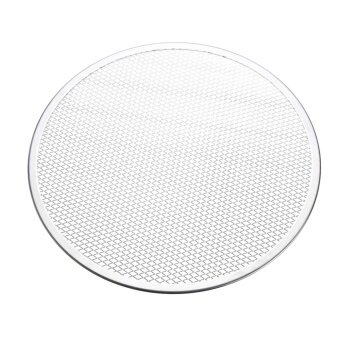 4pcs Seamless Rim Aluminium Mesh Pizza Screen Baking Tray Net Bakeware Cooking Tool 14'' - intl