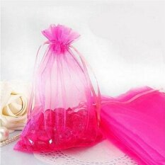 50pc Organza Gift Bags Jewelry Candy Bag Wedding Favors Bags Mesh Gift Pouches Rose - intl
