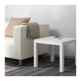 โต๊ะข้าง ขาว ขนาด 55x55 ซม.