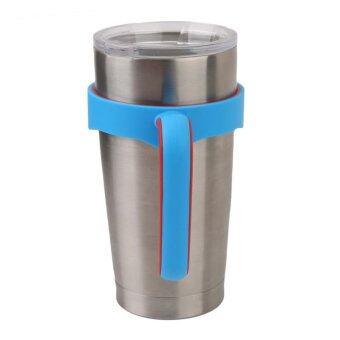 อัยย์บ้านจับพลาสติกสำหรับ 566.99กรัม Rtic Drinkwareท่องเที่ยววางถ้วยแก้วแรมเบลอร์ (สีน้ำเงิน)