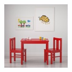 โต๊ะเด็ก, แดง ขนาด 59x50 ซม.