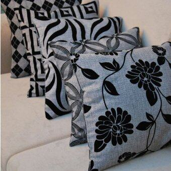 5pcs/set Multi-pattern Linen Cotton Polyster Skull Bolster Cushion Pillow Cover Bag.
