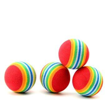 6 x Colorful Pet Cat Kitten Soft Foam Rainbow Play Balls ActivityFunny Toys - INTL