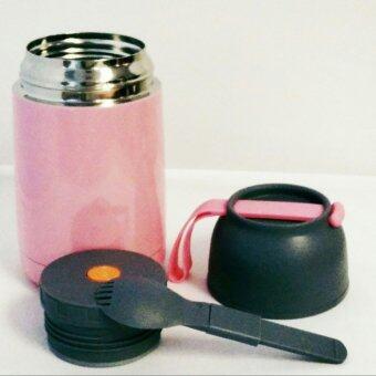 ต้องการขายด่วน กระบอกใส่อาหารเก็บอุณหภูมิ พร้อมช้อนพับได้ สำหรับใส่ซุป โจ๊ก ชา กาแฟ ความจุ 620 ml.