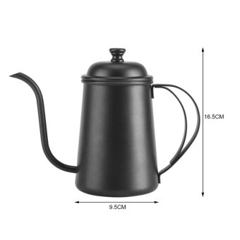 650ML Stainless Steel Gooseneck Spout Kettle Pour Over Coffee TeaHome Brewing Drip Pot Silver - intl - 5