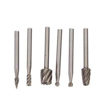 6pcs High Speed Steel Woodworking Milling Cutters Wood cutter3.175mm For Dremel .