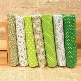 7pcs 25x25cm Cotton Fabric DIY Craft Material Pre Cut Charm Fat Quarters Bundle - intl
