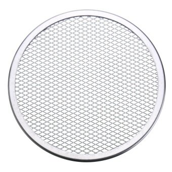 7pcs Seamless Rim Aluminium Mesh Pizza Screen Baking Tray Net Bakeware Cooking Tool 9'' - intl