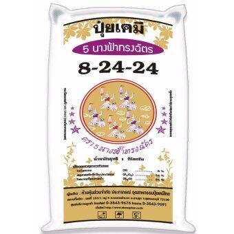 ปุ๋ยเคมี สูตร 8-24-24 ใส่พืชผักและผลไม้ทุกชนิด ตรา 5 นางฟ้าทรงฉัตร (1 kg)