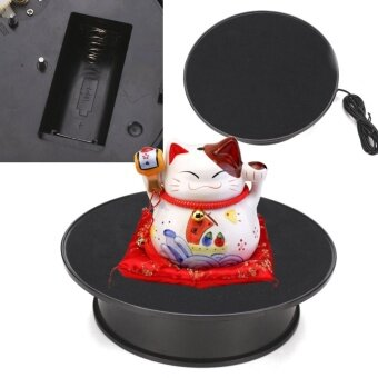 8'' Anti-slip ABS Black Rotating Turntable Display Stand Power by AC & Battery - intl