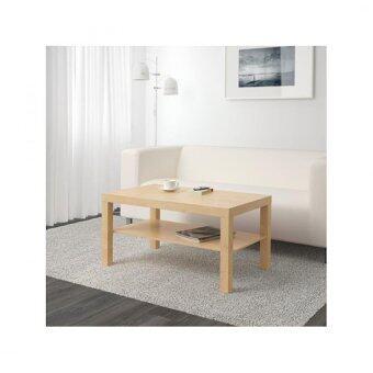 รีวิวพันทิป ลัค โต๊ะกลาง วางหน้าโซฟา สีเบิร์ช ขนาด 90x55x45 ซม.