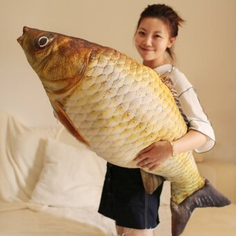 95cm simulation fish plush toy doll size bed pillow doll fish - intl