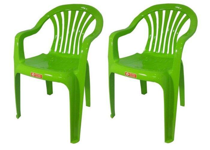 เช่าเก้าอี้ กรุงเทพ เก้าอี้สนาม มีพนักพิง และ ที่เท้าแขน รุ่น 999 สีเขียวมะนาว แพ็ค2ตัว