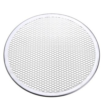 9pcs Seamless Rim Aluminium Mesh Pizza Screen Baking Tray Net Bakeware Cooking Tool 10'' - intl