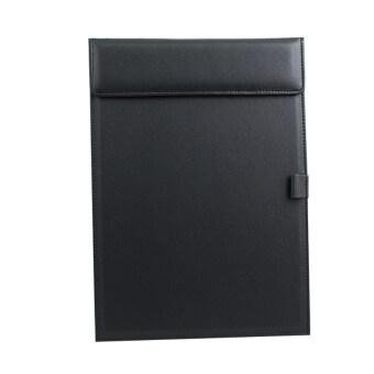 รีวิวพันทิป สำนักงานธุรกิจ A4โฟลเดอร์แฟ้มกระดาษหนังเขียนกระดานเบาะแท็บเล็ต-สีดำ