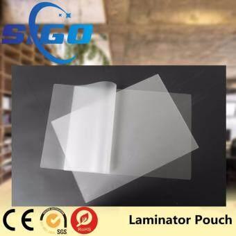 พลาสติกเคลือบบัตร คละรุ่น ขนาด A4 กับ 80 mm X 110 mm. และ 65 mm X 95 mm. ขนาดหนา 125 ไมครอน ( แพ็คห่อรวม 300 แผ่น )