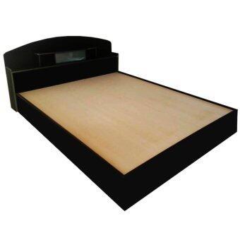 ADD BC - 301 เตียงนอน ขนาด 3.5 ฟุต หัวโค้ง สีโอ๊ค