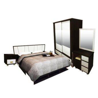 ADDHOME ชุดห้องนอน ขนาด 5 ฟุต(Set 4 ชิ้น) รุ่น SYDNEY-5S4(สีโอ๊ค/ขาว)