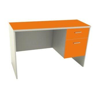 ADHOME โต๊ะทำงาน หน้าท็อป PVC ขนาด 120 ซม. รุ่น Work-120 (สีส้ม)