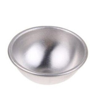 ADS 3D Half Ball Sphere Cake Mold Aluminum Alloy Decor Bakeware Baking Tool DIY 5.5*2.5cm - intl