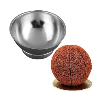 ADS Practical High-quality Hot Sell 3D Sport Half Ball Sphere Cake Pan Baking Mold Bakeware Tin Kitchen Mould Tool A - intl