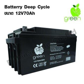 Applegreen Battery Deep Cycle 12V70Ah Solar Battery Solar cellSolar panel Recharge Battery Electric แบตเตอรี่แห้ง แบตเตอรี่โซล่าเซลล์ พลังงานไฟฟ้าสำรอง พลังงานทดแทน ผลิตไฟฟ้าพลังงานแสงอาทิตย์ ใช้กับโซล่าเซลล์ ใช้กับอินเวอเตอร์ อุปกรณ์เชื่อมต่อไฟฟ้า