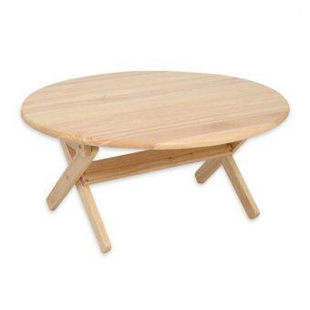 Asia โต๊ะญี่ปุ่นไม้ยางกลม หน้ากว้าง 60 ซม. รุ่นT96