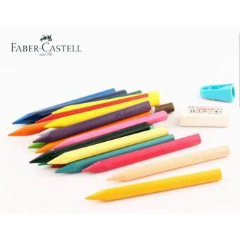 Baby Station สีเทียนสามเหลี่ยมแบบลบได้ Faber Castell แบบ 12 สีเหมาะสำหรับเด็ก