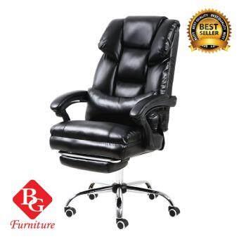 รีวิว B&G เก้าอี้นั่งทำงาน เก้าอี้ออฟฟิศ เก้าอี้นั่งทำงาน เก้าอี้ผู้บริหาร (Black) - รุ่น S1