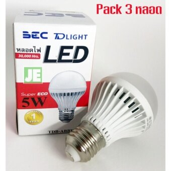 BEC หลอด LED 5W Warm White แสงทอง E27