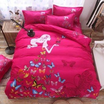 Bedding Cheap ชุดผ้าปู ผ้านวม 6 ชิ้น 6 ฟุต รุ่น MIBO204