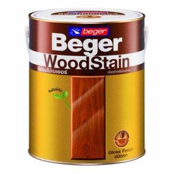 Beger WoodStain สีย้อมไม้เบเยอร์ G-1900 สีใสเงา คงสีเดิมของไม้เพิ่มความเงางาม 3.785 ลิตร