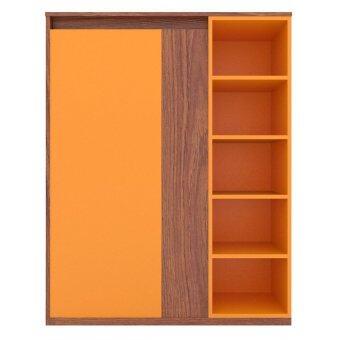 Besta ตู้อเนกประสงค์ Lotte - สีไม้สัก/สีส้ม