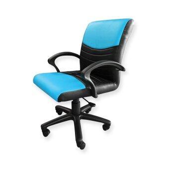 BH เก้าอี้สำนักงานหลังสวิงทูโทน รุ่นแองจี้ ปรับระดับได้ สีดำคาดฟ้า