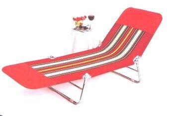 BH เตียงผ้าขนปุย ปรับ 3 ระดับ (สีแดง)