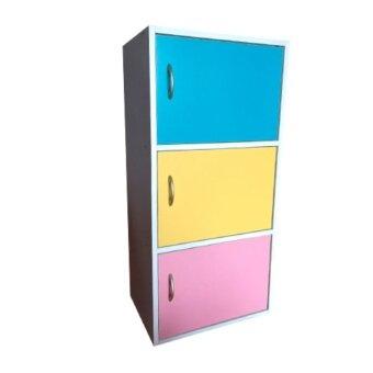 รีวิวพันทิป BH ตู้เก็บของอเนกประสงค3ชั้น มีบานประตู (สีผสม)