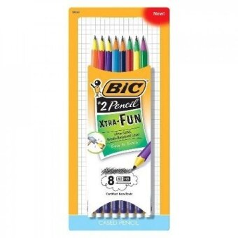 BIC® Xtra Fun Pencil, #2 HB, Two-Toned Color Barrels, 8 Pack - addexcitement to any writing assignment - intl