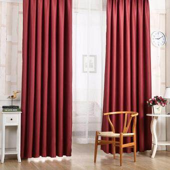 Blackout Thermal Solid Window Curtai Red wine