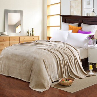 blanket plush kids coral fleece blanket travel bed sheet quiltfabric super soft air-condition blankets - intl
